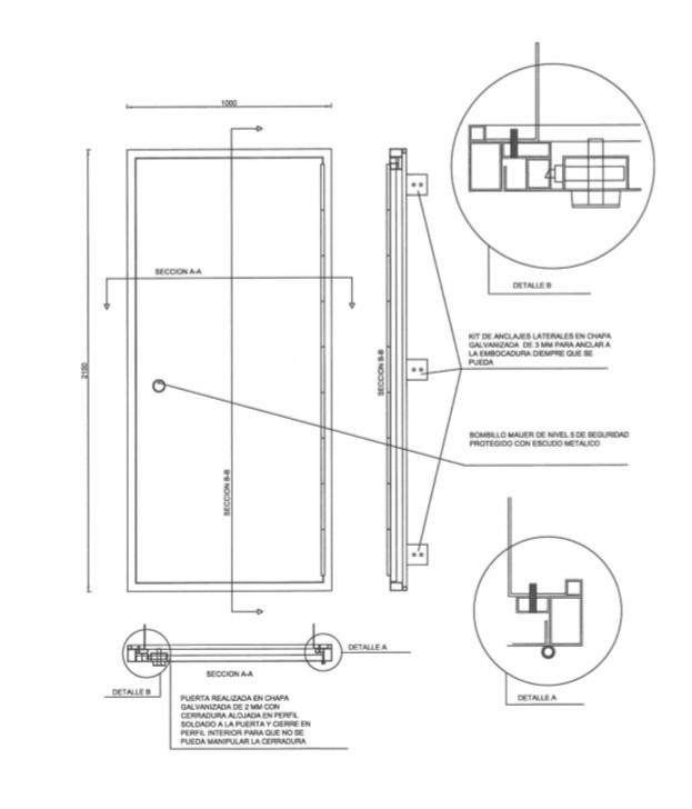 schema puerta antiokupa - Presupuesto Puerta Anti okupas Precio